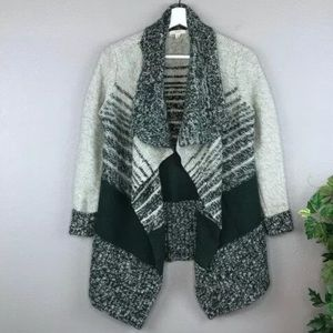 Caslon Chunky knit waterfall open front cardigan